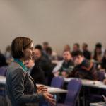 Nina Defounga Spricht Zu Konferenzteilnehmern Der Innovationskonferenz TFC2015 In Berlin