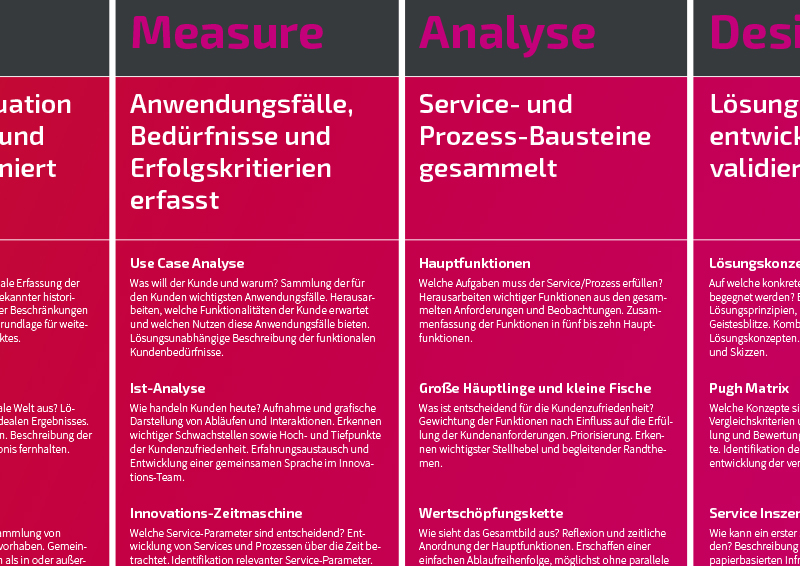 Service- Und Prozess-Innovation Roadmap-Ausschnitt Deutsch - TOM SPIKE