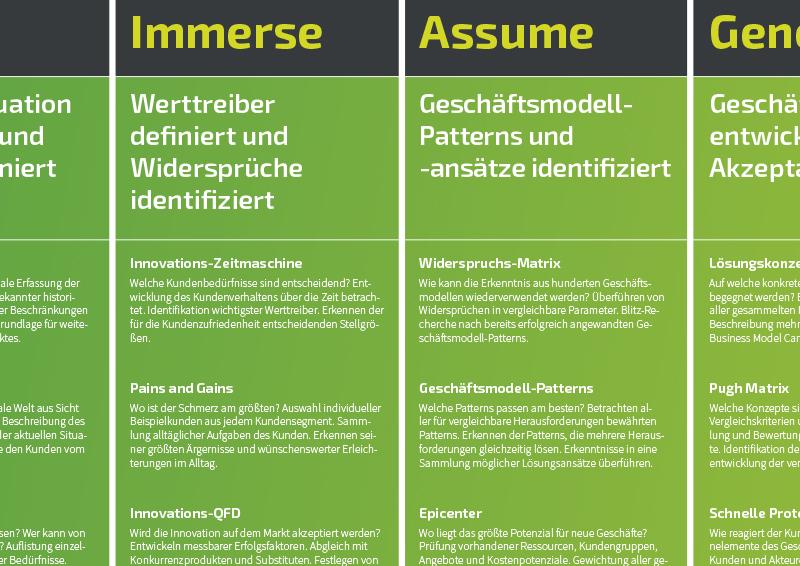 Geschäftsmodell-Innovation Roadmap-Ausschnitt Deutsch - TOM SPIKE