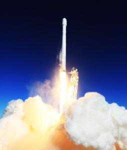 Raketenstart als Symbol für Innovationsprojekt - TOM SPIKE