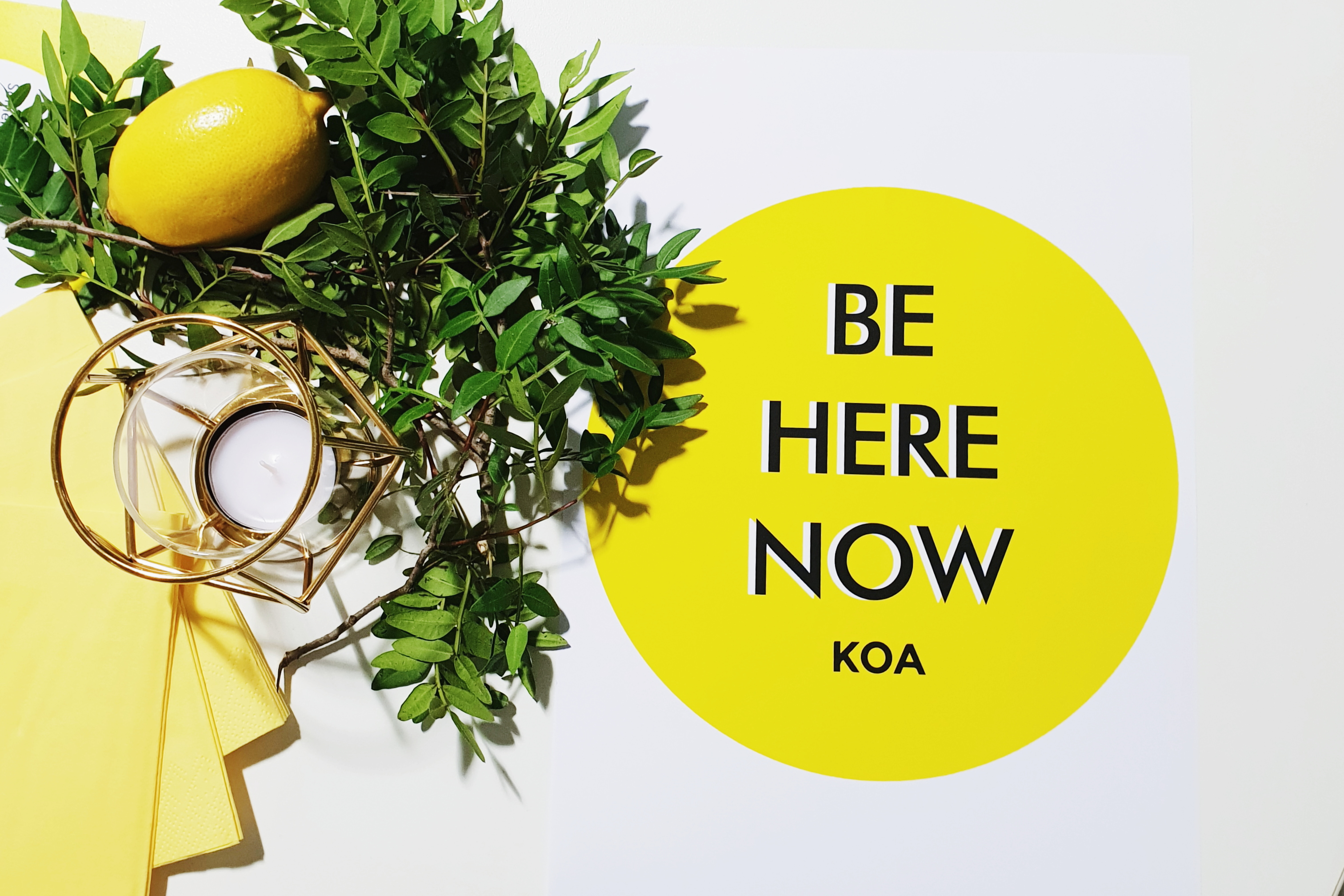 KOA Logo Be Here Now