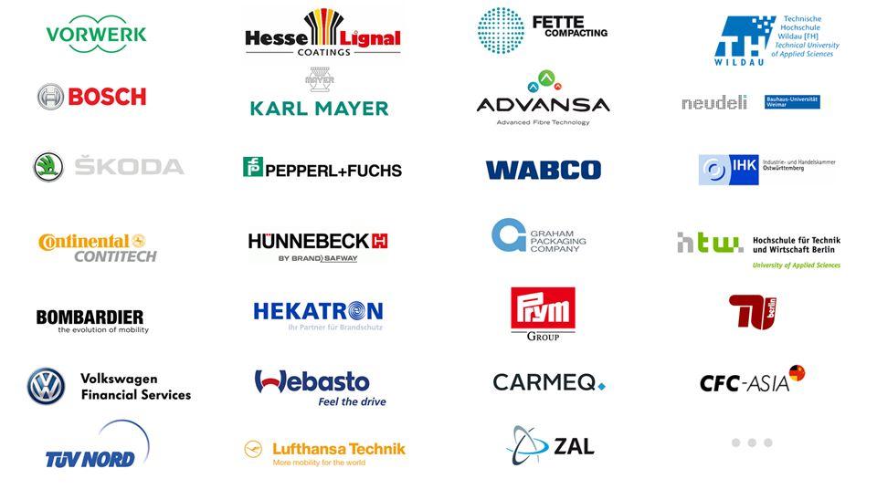 Unternehmenslogos von Technologieunternehmen