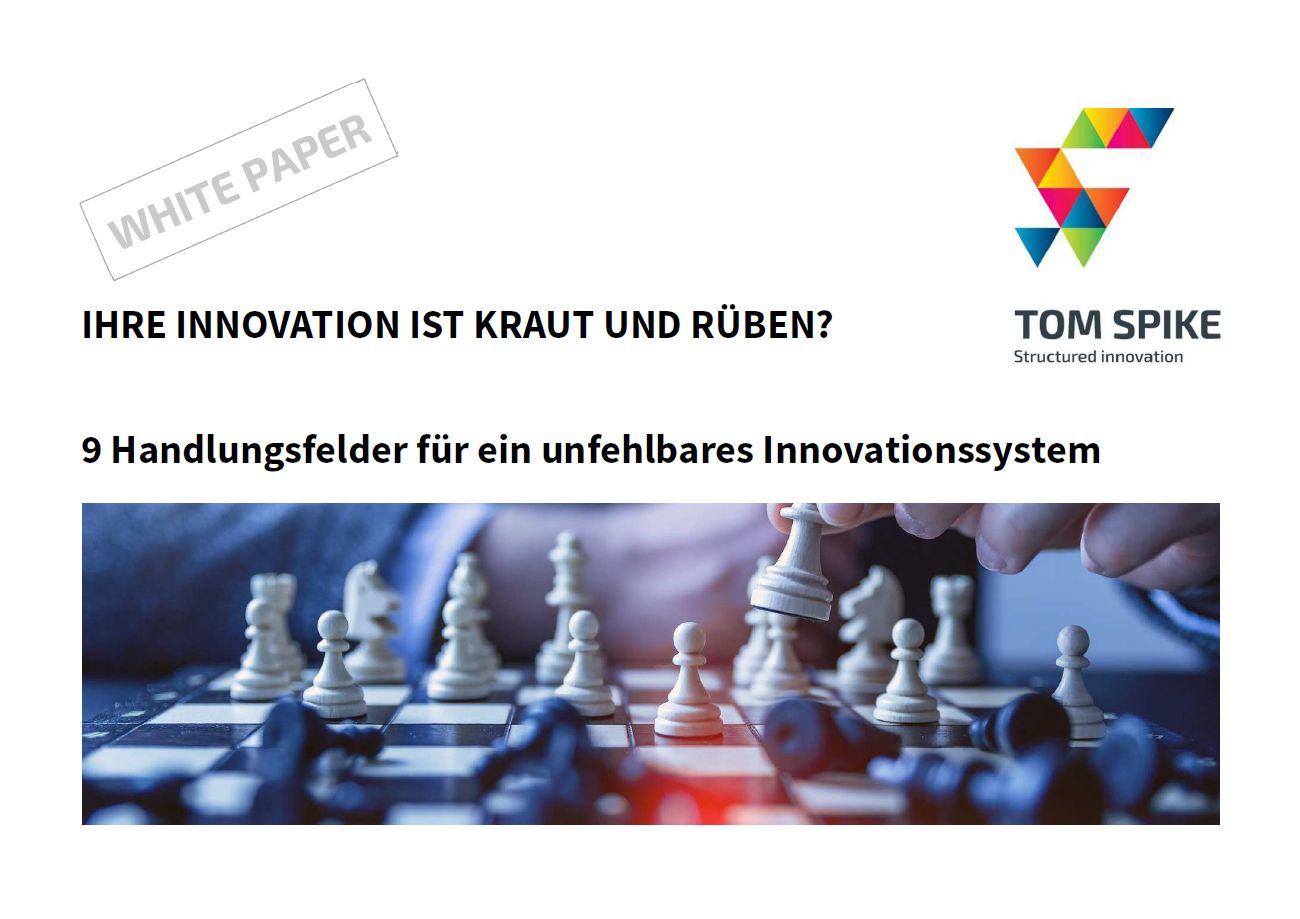 Innovation White Paper Deckblatt mit Schachbrett und Schachfiguren