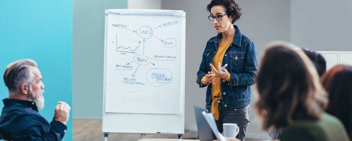 Geschäftsführung und Kunden diskutieren über Geschäftsmodellinnovation - TOM SPIKE