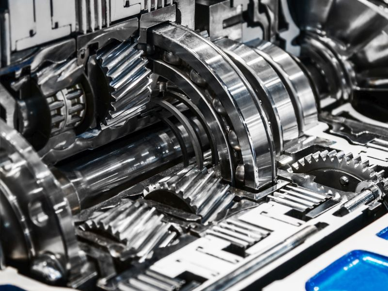 Gears and bearings of a continuous variable transmission CVT as a symbol for Technology Innovation - TOM SPIKE